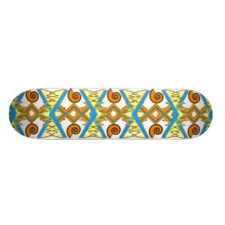 Summery Geometric Skateboard