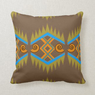 Summery Geometric Throw Pillow