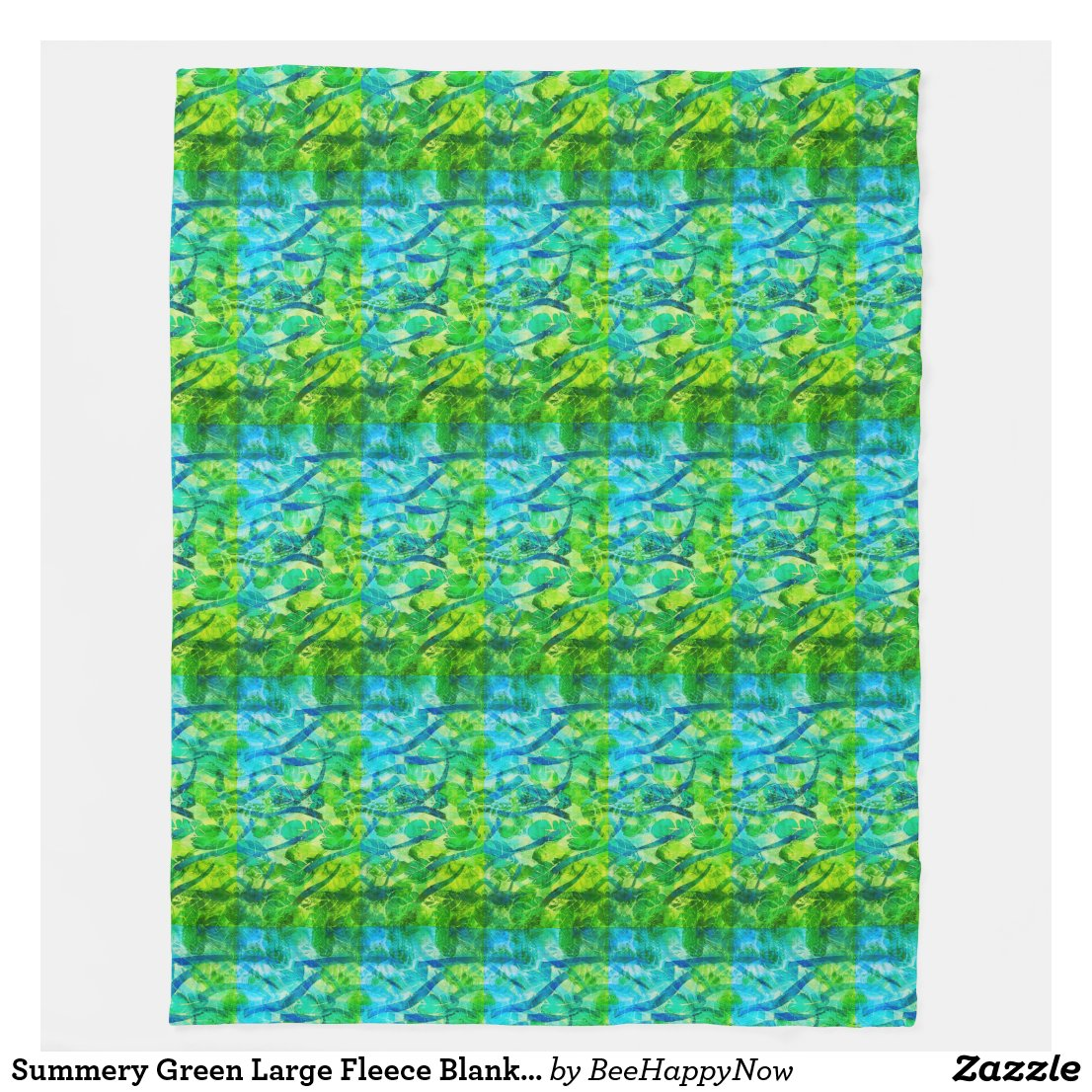 Summery Green Large Fleece Blanket