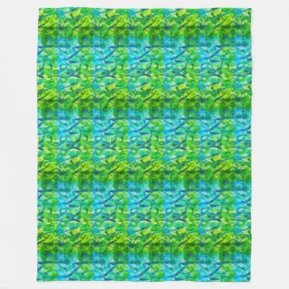Summery Green Large Fleece Blanket