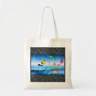 Summery Ocean Life Themed Tote Bag