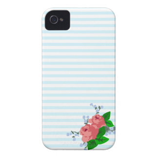 Summery Stripes and Roses iPhone 4 Cover