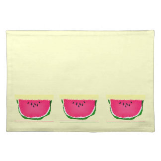 summery watermelon placemats