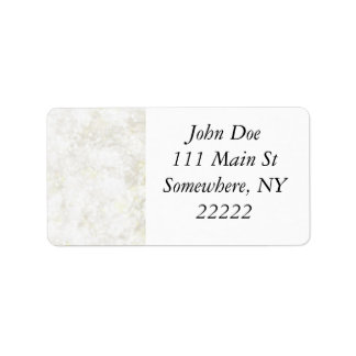 Summery White Fairy Dust Address Label