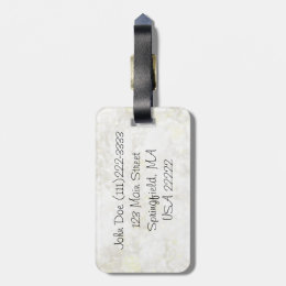 Summery White Fairy Dust Luggage Tag