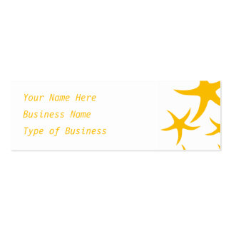 Summery Yellowy-Orange Starfish Pattern. Double-Sided Mini Business Cards (Pack Of 20)