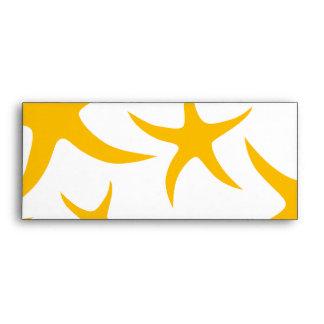 Summery Yellowy-Orange Starfish Pattern. Envelope