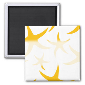 Summery Yellowy-Orange Starfish Pattern. Refrigerator Magnets