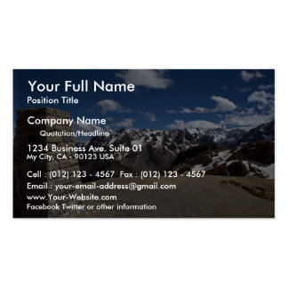 Summit, Alps National Park, France Business Card Template