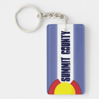 Summit County Colorado artsy flag keychain
