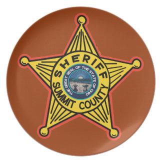 Summit County Ohio Sheriff Plate. Plate