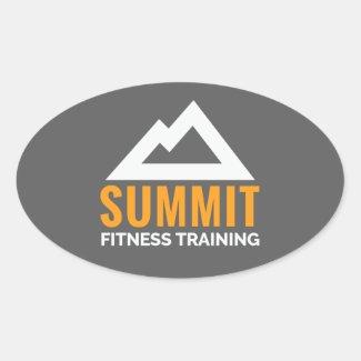 Summit Fitness Training Oval Sticker