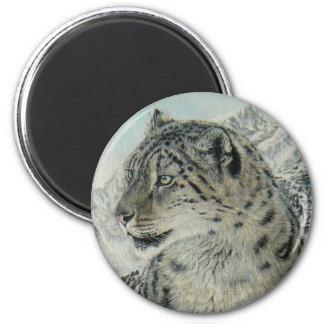 Summit King Snow Leopard magnet