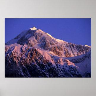 Summit of Denali Peak Mt. McKinley) at Poster