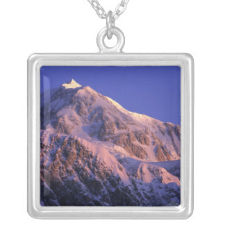 Summit of Denali Peak Mt. McKinley) at Silver Plated Necklace