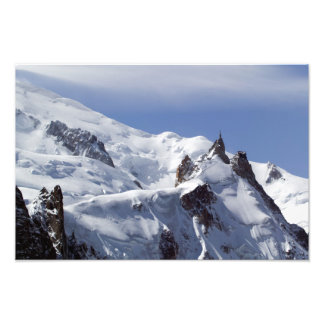 Summit of Mont Blanc and L'Aiguille Du Midi Photo