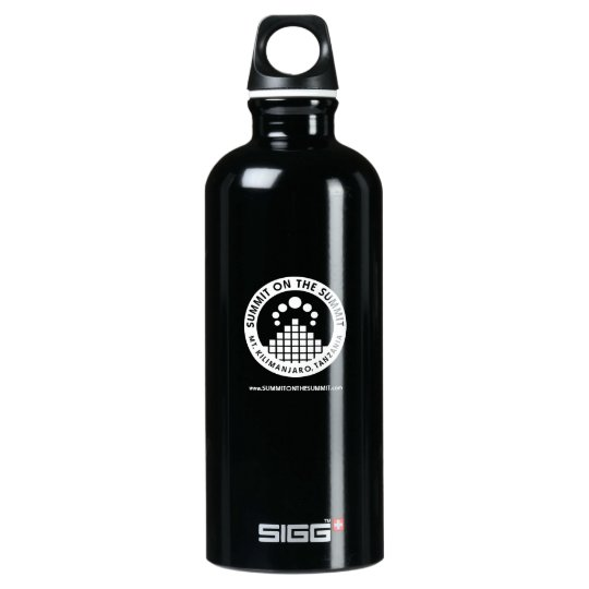 SUMMIT ON THE SUMMIT in Pitch Black Aluminum Water Bottle