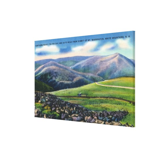 Summit View of Cog Rail, Northern Peaks Canvas Print