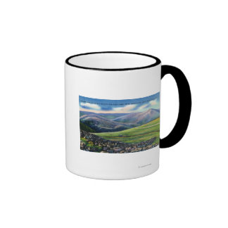 Summit View of Cog Rail, Northern Peaks Coffee Mugs