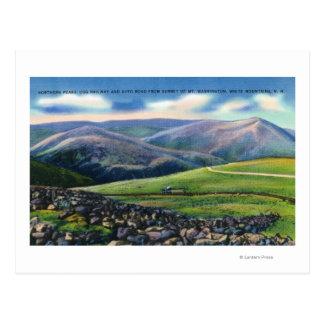 Summit View of Cog Rail, Northern Peaks Postcard