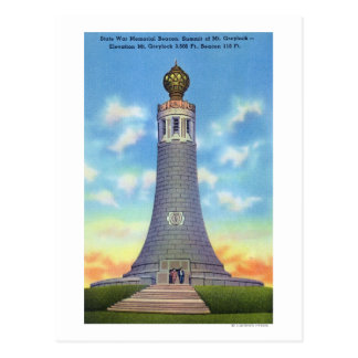 Summit View of State War Memorial Postcard