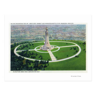 Summit View of the MA State Memorial Beacon Postcard