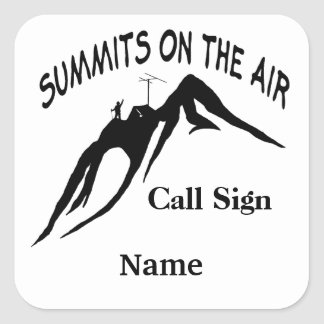 Summits on the Air Customizable Stickers Name Tags