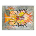 Summoning Fire Fairy Postcard