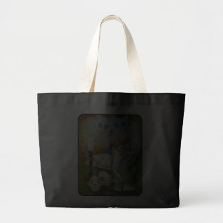 Summoning Old Friends, Ghost Cat Gothic Art Bag