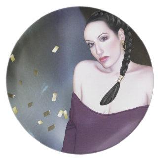 Summoning the Muses - Self Portrait Melamine Plate