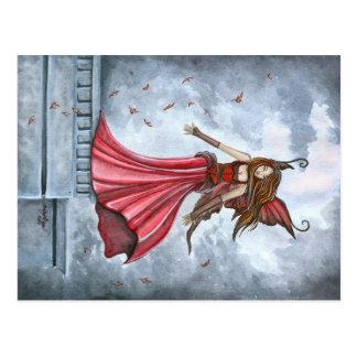 Summoning the Wind Fairy Postcard