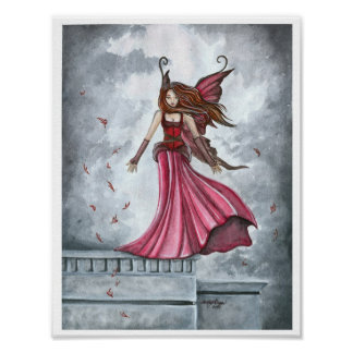 Summoning the Wind Fairy Poster Print