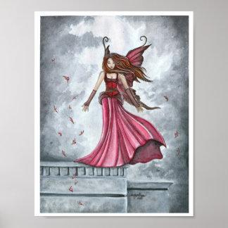 Summoning the Wind Fairy Poster Print