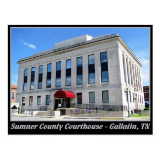 Sumner County Courthouse - Gallatin, TN Postcard