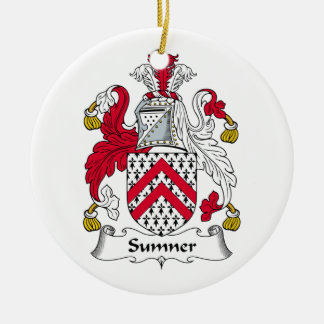 Sumner Family Crest Christmas Tree Ornaments