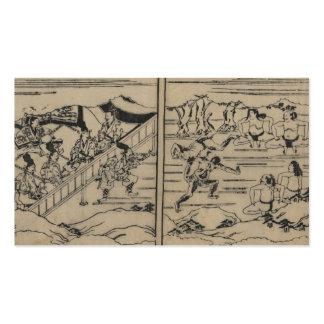Sumo circa 1600s Japan Business Card Templates