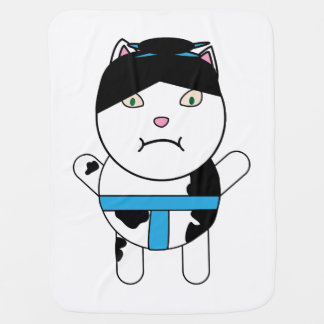 Sumo Kitty Baby Blanket