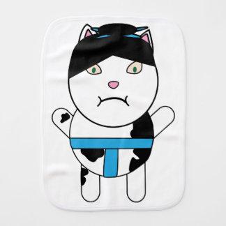 Sumo Kitty Baby Burp Cloth