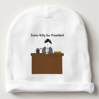 Sumo Kitty For President Baby Beanie