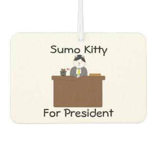 Sumo Kitty For President Car Air Freshener
