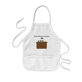 Sumo Kitty For President Kids' Apron
