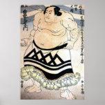 Sumo-luchador japonés póster