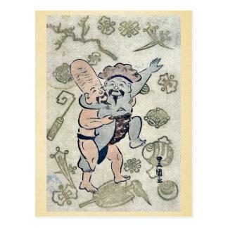 Sumo match by Utagawa,Toyokuni Postcards