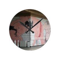 Sumo Mural Wall Art Round Clock