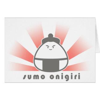 Sumo Onigiri Tarjeta De Felicitación