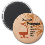 Sumo Penguin 2 Inch Round Magnet