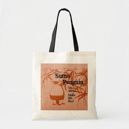 Sumo Penguin Canvas Bag