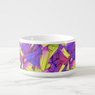Sumo Purple and Yellow Stars Chili Bowl