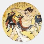 Sumo Round Stickers
