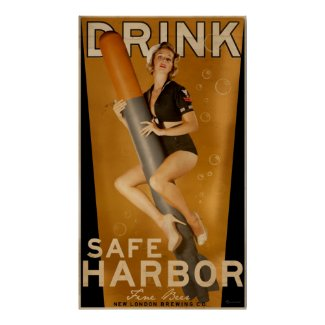 """Sumo Sized"" Safe Harbor Beer Torpedo Poster"